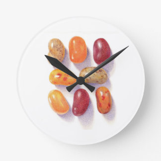 Fall Jelly Beans Round Wall Clock