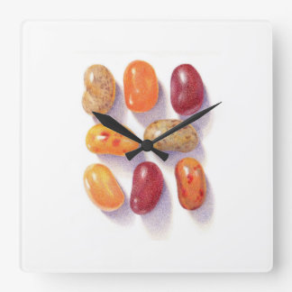 Fall Jelly Beans Square Wall Clock
