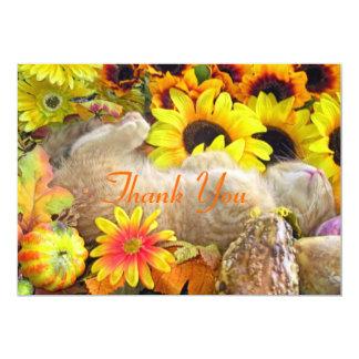 Fall Kitten Thank You Note Card