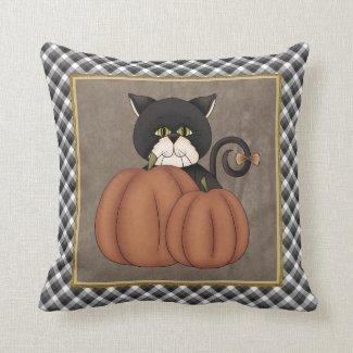 Fall Kitty pillow Throw Pillows
