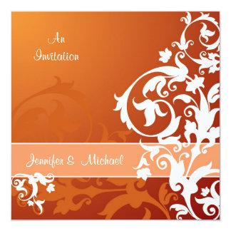Fall Lace Wedding Invitation
