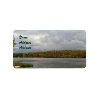 Fall/Lake Design Address Labels