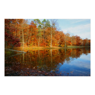 Fall Lake Poster