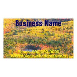 Fall Landscape With Pond in Acadia National Park Double-Sided Standard Business Cards (Pack Of 100)