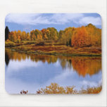 FALL LANDSCAPE WITH RIVER AND ASPENS MOUSE PADS