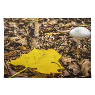 Fall Leaf and Mushrooms Place Mats