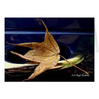 Fall leaf stationery note card