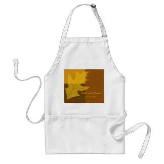 Fall Leaf Color Block Wedding Adult Apron