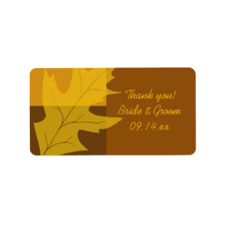 Fall Leaf Color Block Wedding Thank You Favor Tags