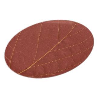 fall leaf dinner plate