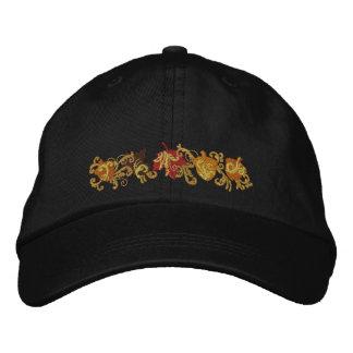 Fall Leaf Filigree Embroidered Baseball Cap