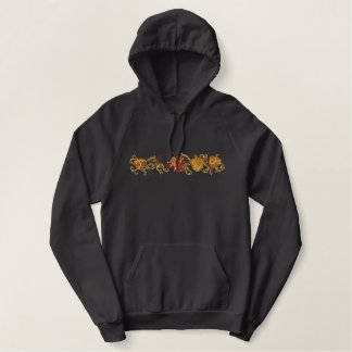 Fall Leaf Filigree Embroidered Hoodie
