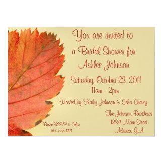 """Fall Leaf Invitation 6.5"""" X 8.75"""" Invitation Card"""