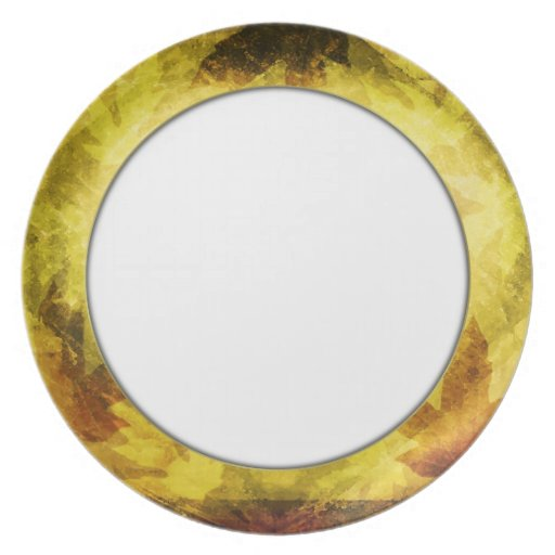 Fall Leaf Pattern Dinner Plate Party Plates