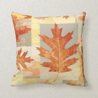 Fall leaf pattern seasonal decorative pillow