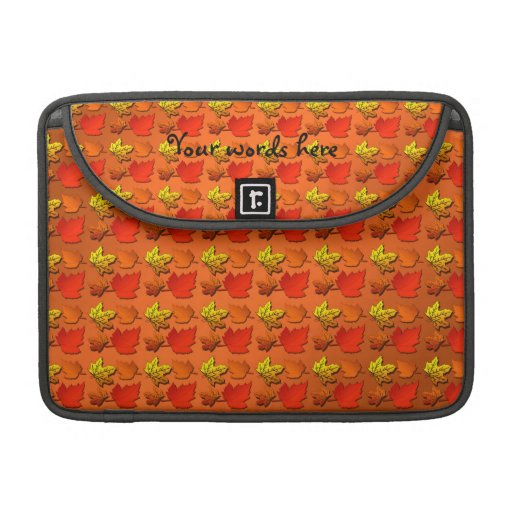 Fall leaf pattern sleeve for MacBooks