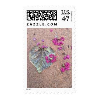 Fall leaf postage stamp