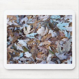 fall leaf watercolor mouse pad