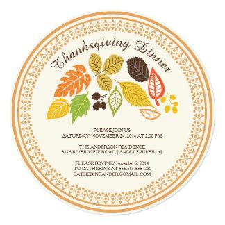 Fall Leave Autumn Thanksgiving Dinner Invitations