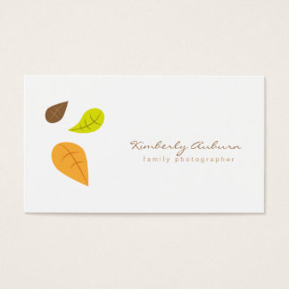 Fall Leave Business Card