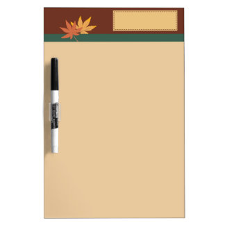 Fall Leaves 2 Dry Erase Board