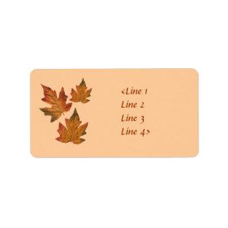 Fall Leaves Address Label