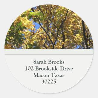 Fall Leaves Address Labels