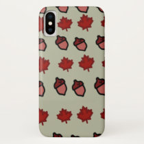 Fall Leaves and Acorns iPhone X Case