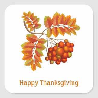 Fall leaves and berries Thanksgiving Sticker