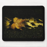 Fall Leaves at Night Mousepad