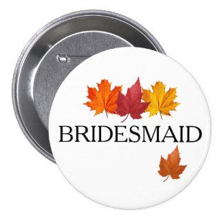 Fall Leaves - Autumn Bridesmaid Button Pin