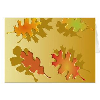 Fall Leaves Autumn Design Cards