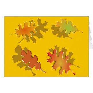 Fall Leaves Autumn Design Greeting Card