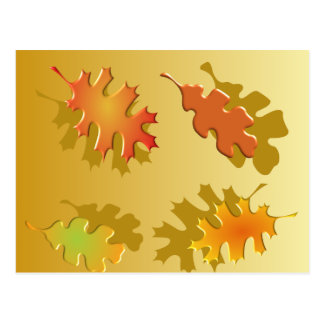 Fall Leaves Autumn Design Post Cards
