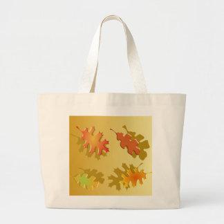 Fall Leaves Autumn Design Tote Bags