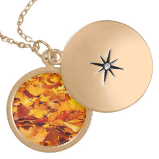 Fall Leaves Autumn Ground Cover Lockets