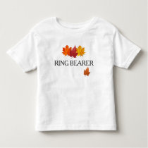 Fall Leaves - Autumn Ring Bearer Shirt