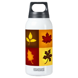 Fall Leaves - Autumn Seasonal Insulated Water Bottle