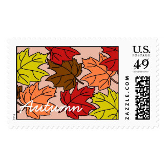 fall leaves, Autumn Stamp