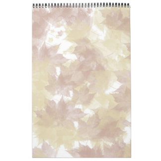Fall Leaves Background Calendar