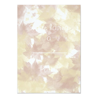 Fall Leaves Background Card