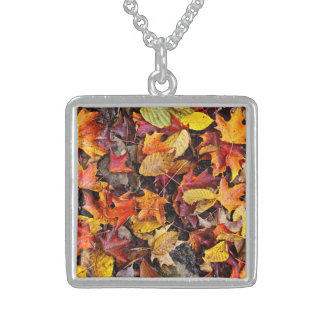 Fall leaves background necklaces