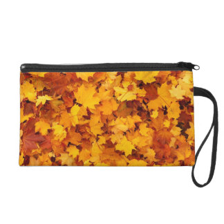 Fall Leaves Wristlet Clutch