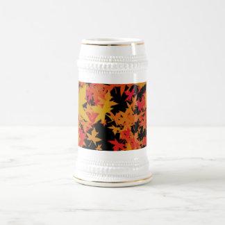 Fall leaves beer stein