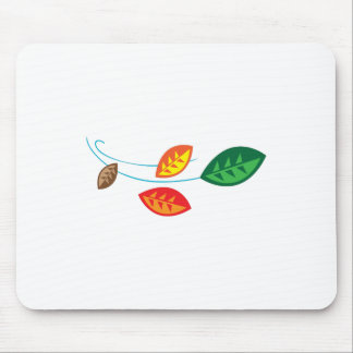 FALL LEAVES BLOWING MOUSE PADS