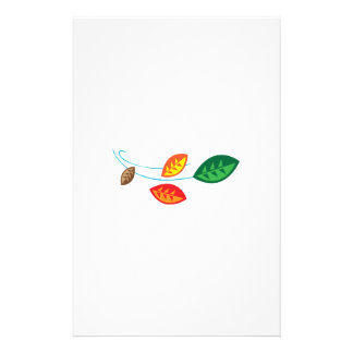 FALL LEAVES BLOWING PERSONALIZED STATIONERY