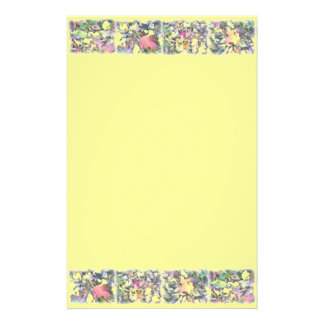 Fall Leaves Border Collage Stationery