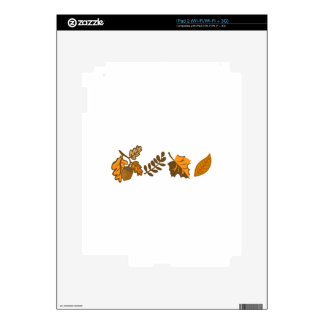 Fall Leaves Border iPad 2 Skin