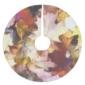 Fall Leaves Bright Brushed Polyester Tree Skirt