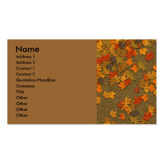 Fall Leaves Business Card
